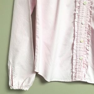 J. Crew Tops - J.Crew pink and white pinstripe buttondown shirt